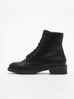 New Look Baskets Charles PU Lace Up Chunky noir