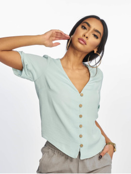 New Look | Penny Button Thru  turquoise Femme Blouse & Chemise