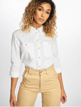 New Look Blouse F T Lucy Linen 2 Pocket wit