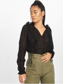 New Look Blusa / Túnica F Claire Cutwork  negro