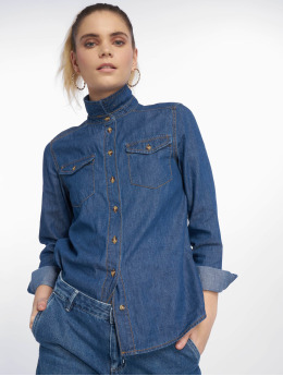 New Look Bluse AW18 LI Shirt Barnes blau