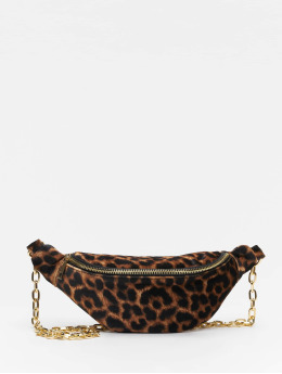 New Look Bolso Libby Leopard Velvet Bum marrón