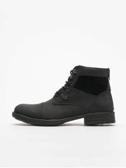 New Look Boots Ryan Military Zip negro