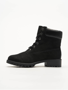 New Look Boots WF Buffy PU Collar Lace Up negro