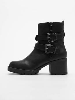 New Look Boots Bertie Buckle Strap Biker negro