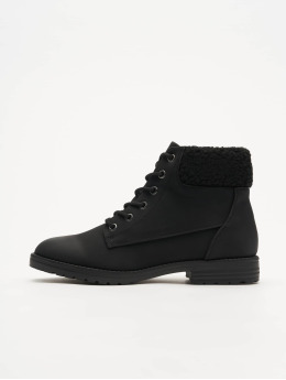 New Look Boots Barber Shearling Cuff nero