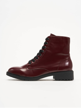 New Look | Charles 4 - BX PU Lace Up rouge Femme Chaussures montantes