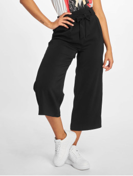 New Look Chino Emerald Tie Waist Crop black