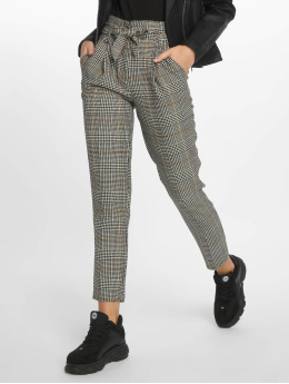 New Look Chino Rome Check Tie Waist grau