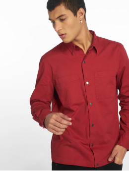 New Look Giacca Mezza Stagione Snap Through Shacket rosso