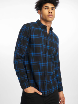 New Look Hemd Ls Epp Blk Cobalt Check blau