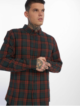 New Look Männer Hemd Longsleeve Red Highlight Check in rot