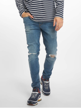 New Look Jeans slim fit Eugene Busted Knee blu