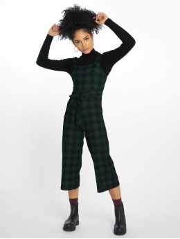 New Look Frauen Jumpsuit Scuba Crepe Check in grün