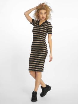 New Look Frauen Kleid EC Stripe Rib Jersey in schwarz
