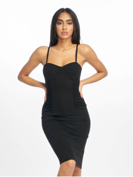 New Look Kleid Go Corset DTL Ruch Side schwarz
