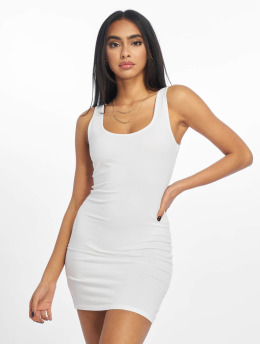 New Look Kleid Vest weiß