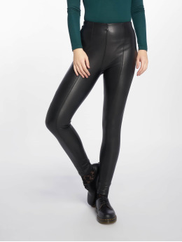 New Look Frauen Legging PU in schwarz