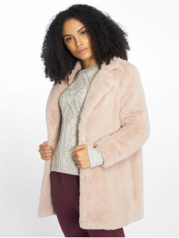 New Look Frauen Mantel OP AW18 LI Faux Fur in rosa
