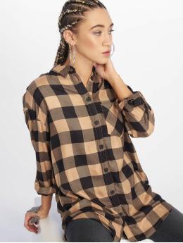 New Look overhemd Erin Camel Check PKT bruin