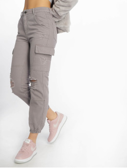 New Look Pantalone Cargo Malibu Ex Rip grigio