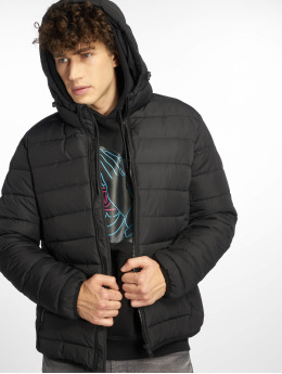 New Look Puffer Jacket Entry Hooded schwarz
