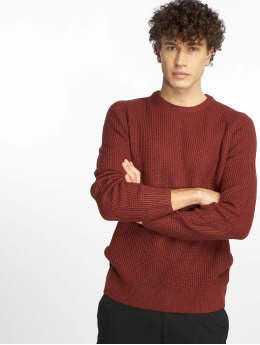 New Look Pullover Tuck Stitch red