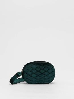 New Look Sac Velvet Bum vert