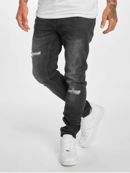 New Look Skinny Jeans WB Abrasion šedá