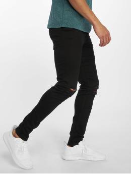 New Look Skinny Jeans Busted Knee black