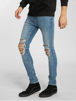 New Look Skinny Jeans Jack Busted Knee modrý
