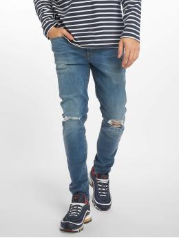 New Look Skinny Jeans Eugene Busted Knee modrý