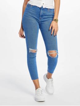 New Look Skinny Jeans Rip Hallie Disco  modrý
