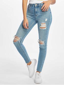 New Look Skinny Jeans Mid Rip Disco Charlotte niebieski