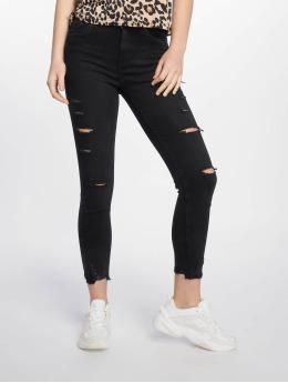New Look / Skinny jeans Schwarz Ext Rip i svart