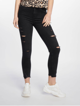 New Look / Skinny jeans Schwarz Ext Rip in zwart