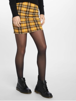 New Look Skirt Mustard Check yellow