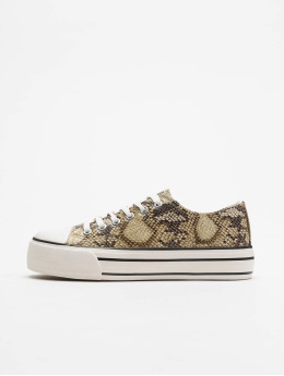 New Look Frauen Sneaker Manfred - PU Double Sole Fox Strap in braun