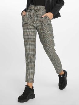 New Look Stoffbukser Rome Check Tie Waist grå