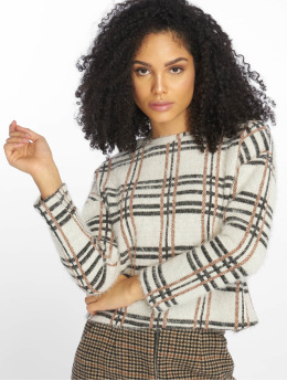 New Look | C S Glitter Check  blanc Femme Sweat & Pull