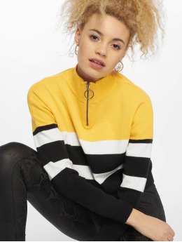 New Look Sweat & Pull 1/2 Zip jaune