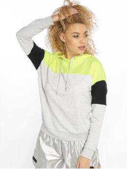 New Look Sweat capuche Colourblock Straight gris