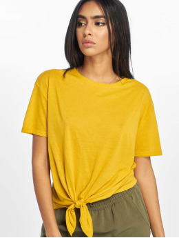 New Look T-shirt Pl Tie Front giallo