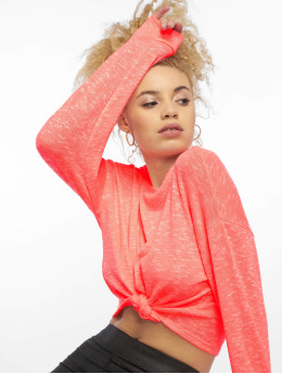 New Look T-Shirt manches longues C S Boxy Fluro orange