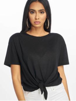 New Look T-Shirt Pl Tie Front noir
