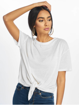 New Look T-Shirt Pl Tie Front white