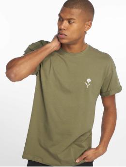 New Look T-skjorter Solid Rose Emboidered grøn