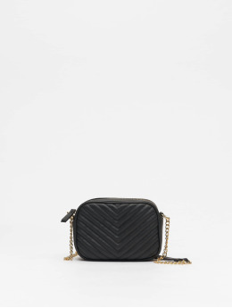 New Look Tasche Chevron Quilt schwarz