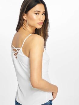 New Look Top Cross Back Cami hvid