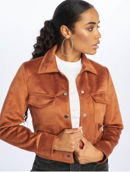 New Look Transitional Jackets Esme Suedette Utility brun
